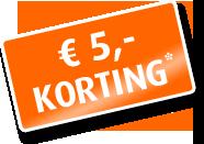 5 euro korting
