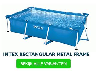 Intex rectangular frame zwembad